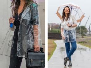 Capa de chuva transparente
