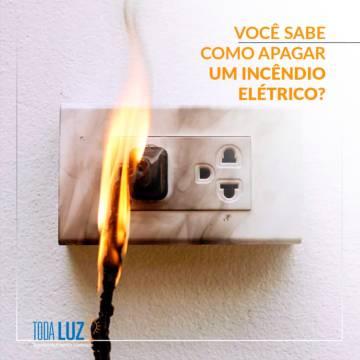 Você sabe como apagar um incêndio elétrico?