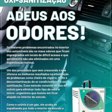 Oxi-sanitização - Adeus aos Odores!