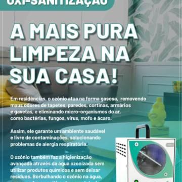Oxi-sanitização - A mais pura limpeza na sua casa!