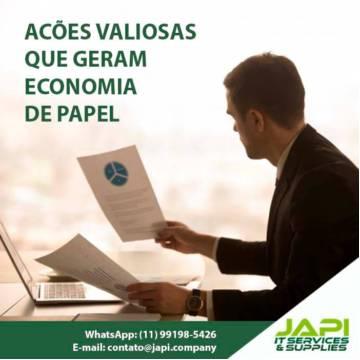 AÇÕES VALIOSAS QUE GERAM ECONOMIA DE PAPAEL