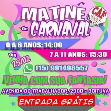 Matinê de Carnaval no CAF!