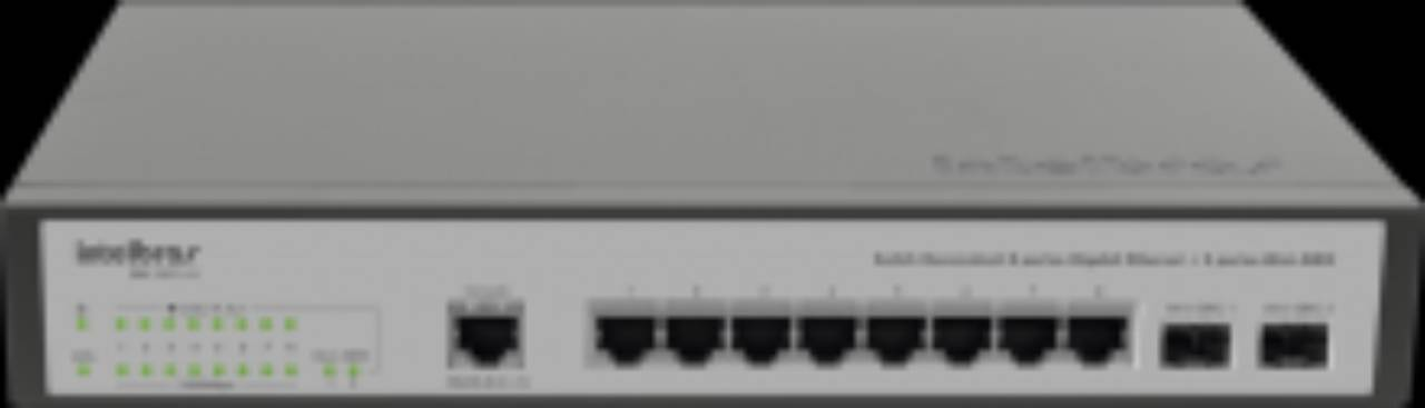 Switch gerenciável 8 portas Gigabit Ethernet SG 1002 MR Intelbras em Jundiaí, SP por Nksec Segurança e Tecnologia