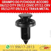 Grampo do P/choque Accord 06/12 City 09/11 Civic 07/11 Crv 05/12 Fit 09/11 c/ Trava Metal em Itupeva, SP por Spx Acessórios e Autopeças