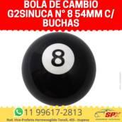 Bola de Câmbio G2Sinuca N° 8 54mm c/ Buchas em Itupeva, SP por Spx Acessórios e Autopeças