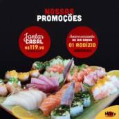 Jantar Casal em Americana, SP por Hioto Sushi