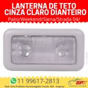 Lanterna de Teto Palio/Weekend/Siena/Strada 04/ Cinza Claro Dianteiro em Itupeva, SP por Spx Acessórios e Autopeças
