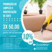 Promoção de Limpeza e Higienização de Sofá  em Americana, SP por OctaClean Americana