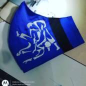 Máscaras bluebelt Bordada
