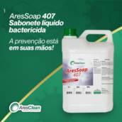 WF Distribuidora de Materiais de Limpeza e Descartáveis - AresSoap 407 - Sabonete Liquido Bactericida