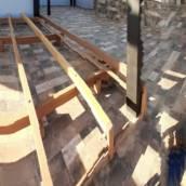 Deck suspenso feito de cumaru
