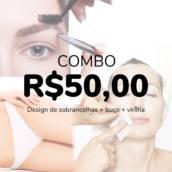 COMBO - Design de Sobrancelhas + Buço + Virilha