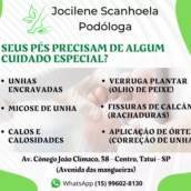 Pódologa em Tatuí - Jocilene Scanhoela Podóloga