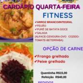 Cardápio de QUARTA-FEIRA 03/03