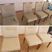 Lavagem de estofado de cadeiras - JK Super Limpeza