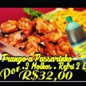 Porção de Frango a Passarinho + 2 molhos + Refrigerante de 2 L por R$ 32,00