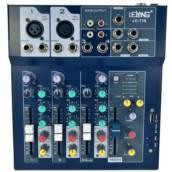 Mesa De Som Digital 4 Canais Le-710 Bluetooth Usb Mixer Mp3