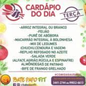 Cardápio de TERÇA FEIRA 22/06