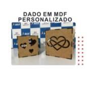 Dado em MDF personalizado