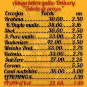 Cardápio de Bebidas Delivery em Avaré