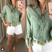 Camisa de Viscose ( Semelhante a Essa Disponível na cor Rosê e Tamanho: 44) em Bauru, SP por Blessing Store