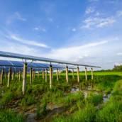 Instalação de energia solar para irrigação