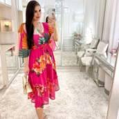 Vestido Florido Rosa