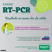 Exame RT-PCR - Diagnóstico da COVID-19 em Itapetininga, SP por Unimed - Hospital Dr. José Silva Dantas Filho