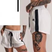 Shorts moletom com recorte lateral e tela