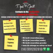 Monte sua marmitex !! em Botucatu, SP por Papa's Grill Restaurante