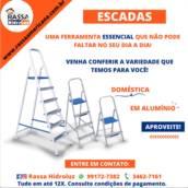 Escada Doméstica em alumínio em Americana, SP por Rassa Hidroluz