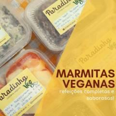 Marmitas Congeladas em Botucatu, SP por Paradinha Veg - Culinária Vegana