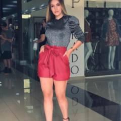 Shorts de couro Alice em Americana, SP por Mulher Atual