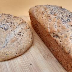 Pão integral com chia
