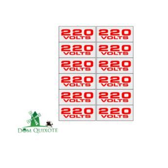 Comprar o produto de Placa 220V - 1,5 X 3,6 c/ 12 uni em Diversos pela empresa Dom Quixote Equipamentos de Proteção Individual em Jundiaí, SP por Solutudo