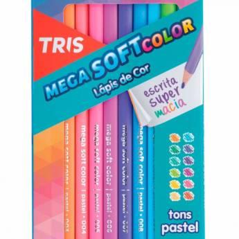 Comprar produto Lapis De Cor 12 Cores TRIS Mega Soft Color Tons Pasteis em Papelarias pela empresa Papelaria Multiloja Imigrantes em Jundiaí, SP