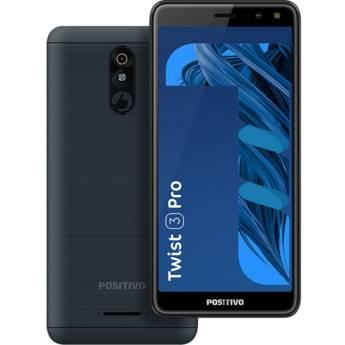"""Comprar o produto de Smartphone Positivo Twist 3 Pro S533 64GB Grafite - 3G Quad-Core 1GB RAM 5,7"""" Câm. 8MP + Selfie 8MP em Novos em Botucatu, SP por Solutudo"""