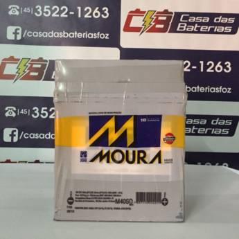 Comprar o produto de Bateria Moura M40SD em Baterias Automotivas pela empresa Casa das Baterias em Foz do Iguaçu, PR por Solutudo