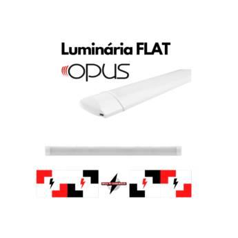 Comprar o produto de Luminárias Flat Opus em Iluminação pela empresa Multi Energia Instalações e Materiais Elétricos  em Atibaia, SP por Solutudo