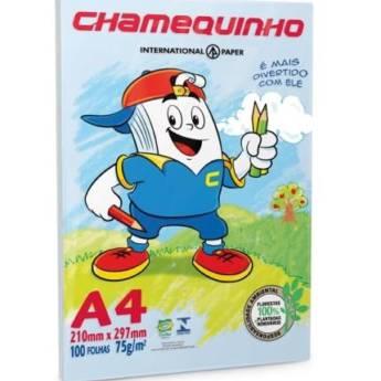 Comprar o produto de Sulfite Chamequinho A4 em Cadernos e Papéis pela empresa Eloy Festas em Jundiaí, SP por Solutudo