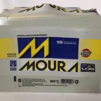 Comprar o produto de Bateria Moura M90TD - 90AH em Baterias pela empresa Casa das Baterias em Foz do Iguaçu, PR por Solutudo