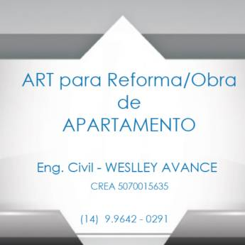 Comprar o produto de ART - Reforma e Obra  em Engenharia - Engenheiros em Botucatu, SP por Solutudo