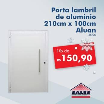 Comprar o produto de Porta alum. (4056) Lambril 2,00 x 1,00 - Aluan em Construção em Botucatu, SP por Solutudo
