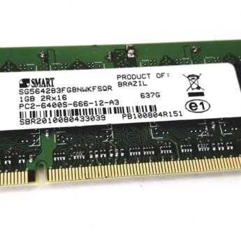 Comprar o produto de Memoria DDR2 1GB Notebook em Memórias RAM em Botucatu, SP por Solutudo