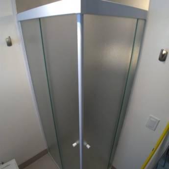 Comprar o produto de Box de canto com vidro pontilhado e kit reto para 4 folhas em Box para Banheiro em Jundiaí, SP por Solutudo