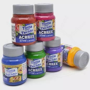 Comprar o produto de Tinta Tecido Acrilex em Arte e Artesanato pela empresa Eloy Festas em Jundiaí, SP por Solutudo