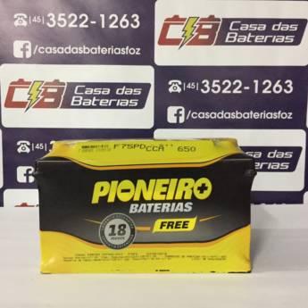 Comprar o produto de Bateria Pioneiro F75PD   em Baterias pela empresa Casa das Baterias em Foz do Iguaçu, PR por Solutudo
