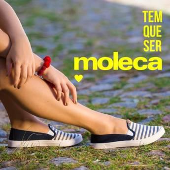Comprar o produto de Sapatilhas Moleca em Calçados pela empresa Lojas Conceito Confecções e Calçados - Vestindo e Calçando Toda a Família em Atibaia, SP por Solutudo