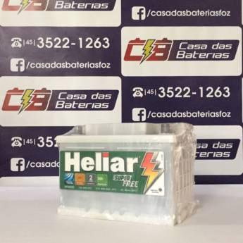 Comprar o produto de Bateria Heliar 60AH em Baterias em Foz do Iguaçu, PR por Solutudo