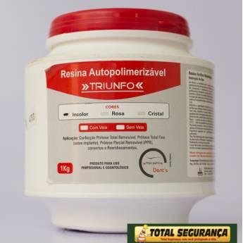 Comprar o produto de resina acrílica em Saúde Dental pela empresa Total Segurança em Mineiros, GO por Solutudo